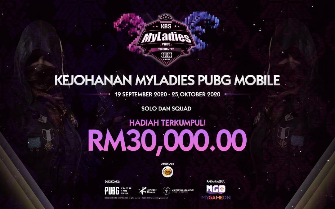 KBS umumkan Kejohanan PUBG Mobile Wanita MyLadies, hadiah terkumpul RM30,000
