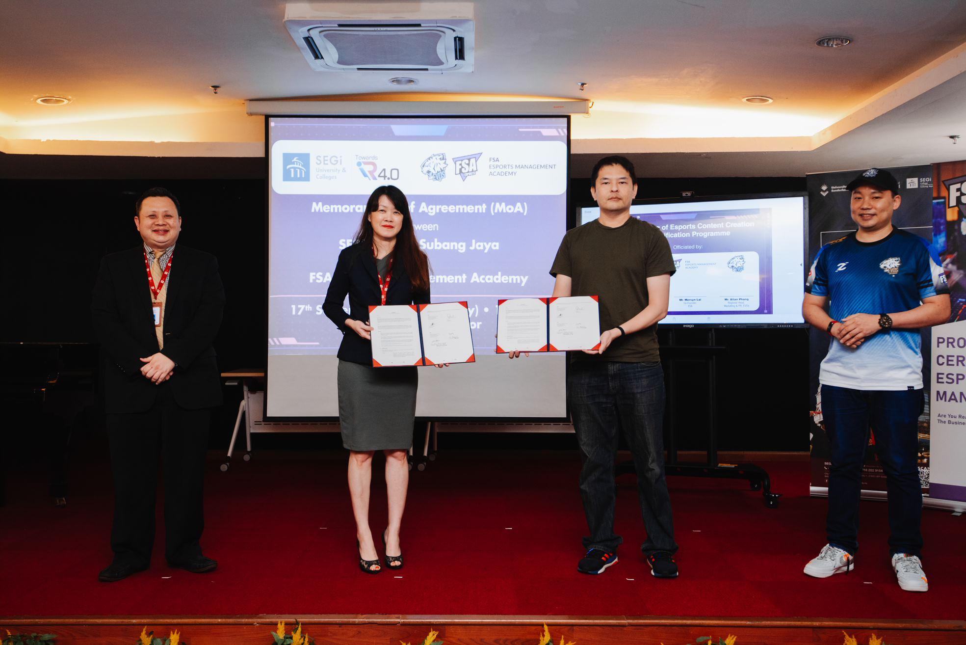 SEGi College, FSA dan EVOS Esports tandatangani memorandum perjanjian