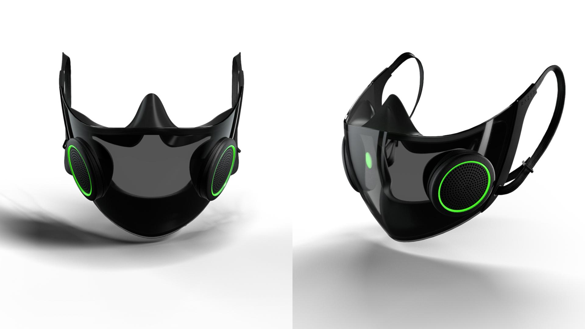 Pelitup muka Razer mempunyai penguat suara dan RGB