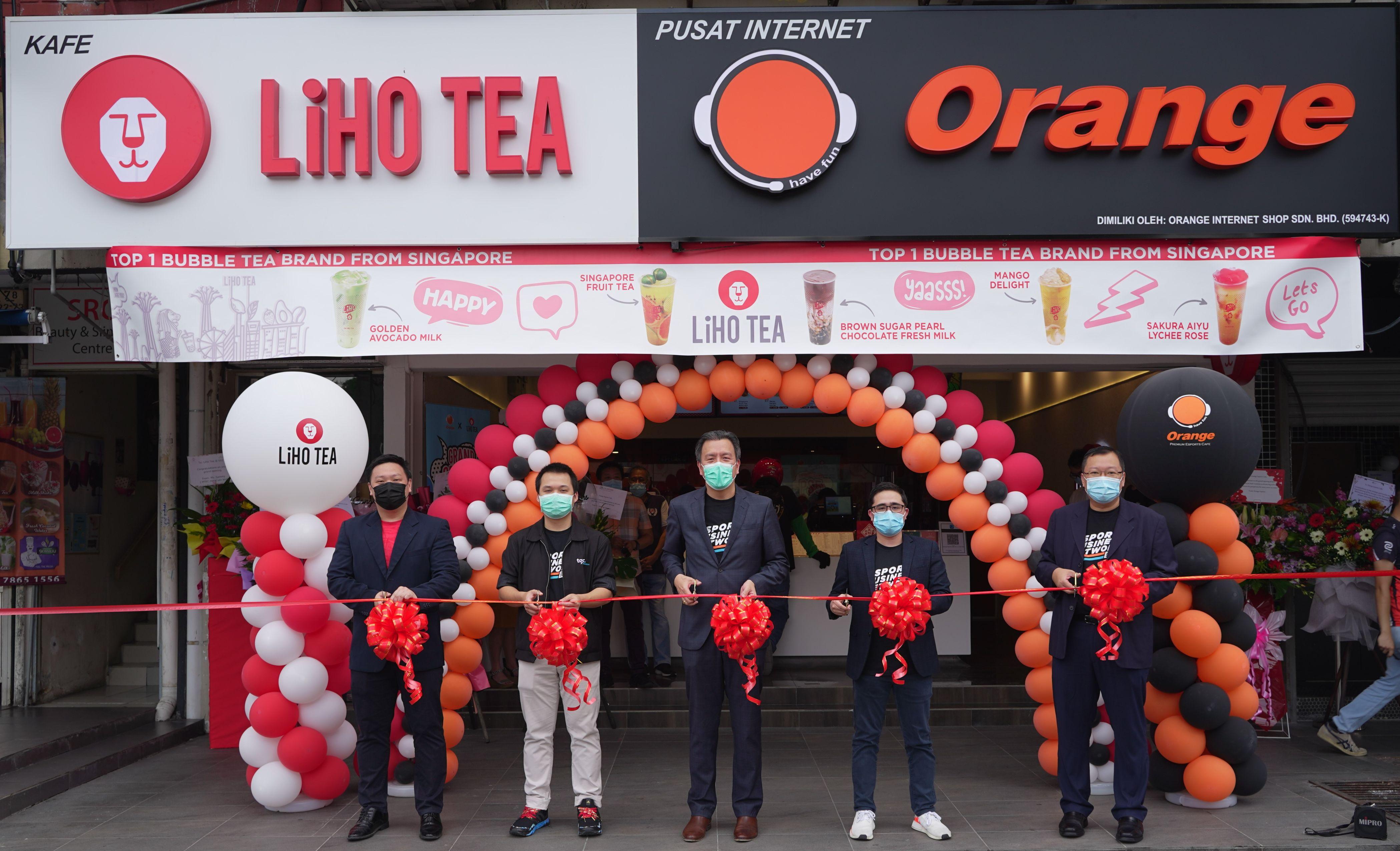 Orange Esports Cafe berkolaborasi dengan LiHO TEA, wujudkan hab gaya hidup & e-sukan